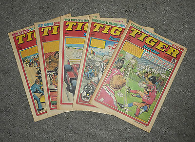 TIGER & SCORCHER COMICS x 5  -1979  - (G3643B)