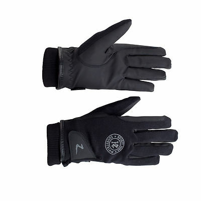Horze Adult Black Horse Riding Thinsulate Winter Gloves Water Wind Repellent