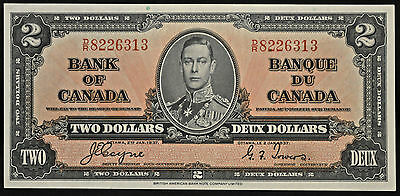 1937 Bank of Canada $2 [Coyne-Towers] choice EF