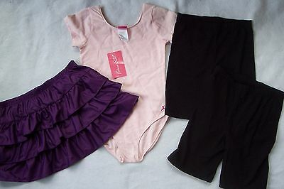 NWT ~FUTURE STAR~ LEOTARD; DANCE SKIRT; 2 Prs ~DANSKIN~ BIKE SHORTS Girl 10-12
