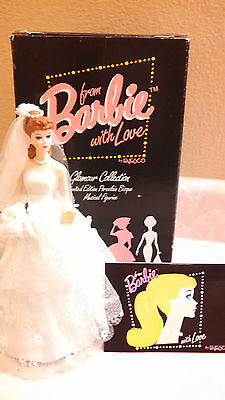 1993 From Barbie With Love Wedding Day Musical Figurine With Box By Enesco