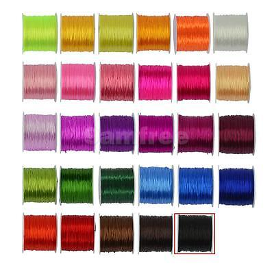 50 Yds 0.5mm Elastic Stretchy Beading Thread Cord Bracelet String Jewelry Making
