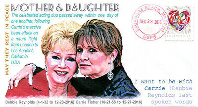 COVERSCAPE computer designed Carrie Fisher and Debbie Reynolds Memorial cover
