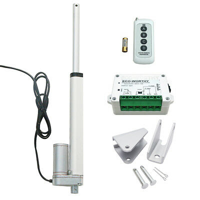 16'' 330lbs 12V Linear Actuator W/ Wireless Motor Controller Kit for Door Opener