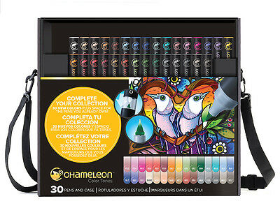 Chameleon Color Tones Pens Markers 30 pc New Colors In Case CT3001