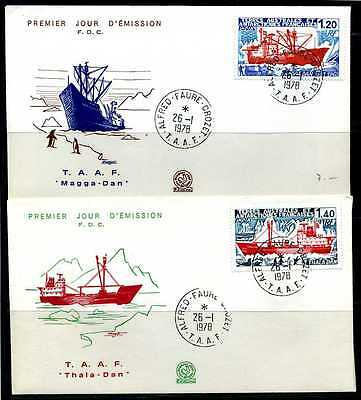 E01229)TAAF FDC 122/3 Frachtschiffe