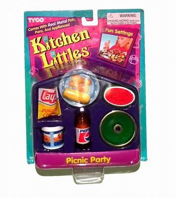 Vintage 1995 TYCO KITCHEN LITTLES Picnic Party with Pepsi - NIB