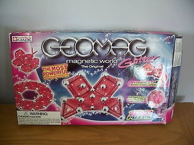 Geomag Glow - red glitter - 120 pieces (119) - magnetic construction set