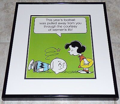 Peanuts Charlie Brown Lucy Vintage Framed Poster Print Schulz Football Feminism