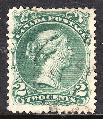 1868 LARGE QUEEN #24 2c GREEN, F, 1870 CDS