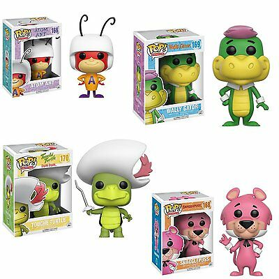 Funko DAMAGED BOX Touche Turtle Snagglepuss Atom Ant Wally Gator 3.75: POP SET