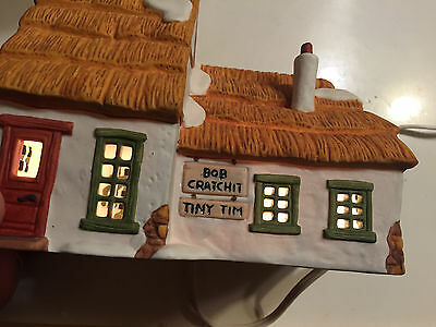 "Dept 56 Dickens Village Series ""the Cottage Of Bob Cratchit And Tiny Tim"" 6500-5"