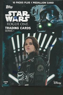 2016 Topps Star Wars Rogue One Series 1 Factory Sealed Blaster Box-MEDALLION !