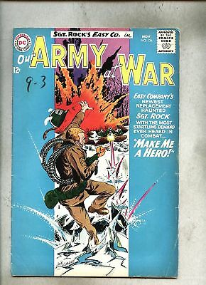 Our Army At War #136-1963 fn/vg  Sgt. Rock Sgt Kubert