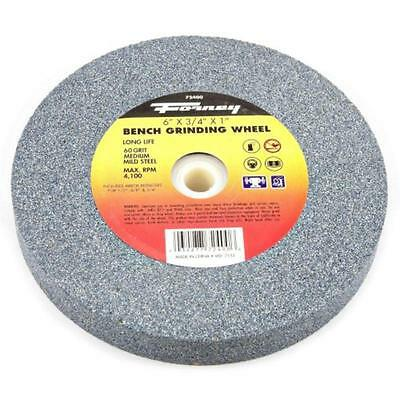"Bench Grinding Wheel, Vitrified With 1"" Arbor, 60-Grit, 6""-By-3/4"" Forney 72400"