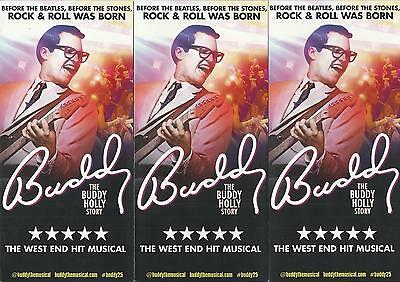 Buddy the Musical - 2014 UK Theatre Tour FLYERS x 3