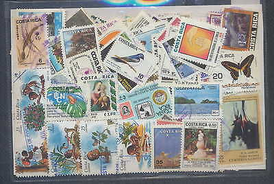 COSTA RICA Collection 500 Different Used Excellent Condition, Old and Modern