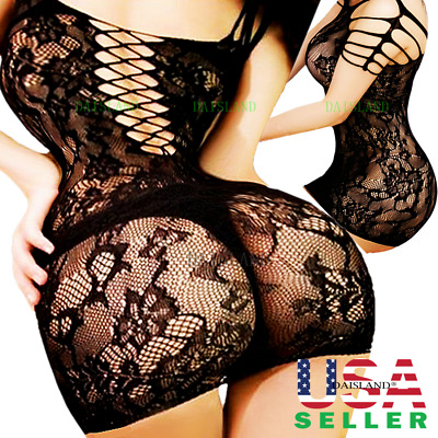 New Women's Lingerie Fishnet Body Stockings Dress Underwear Babydoll Sleepwear