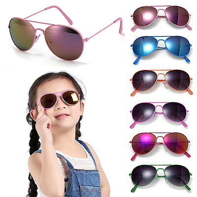 Classic Metal Frame Kids Glasses Girls Boys Anti-UV Sunglasses Goggles Eyewear