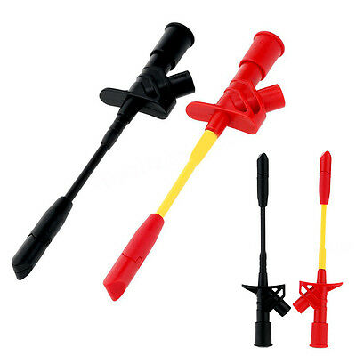 Test Needle Hook Insulated Quick Piercing Clips Multimeter Testing Probes 4mm
