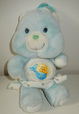 Peluche BISOUNOURS care Bears baby tugs bear Ti COQUIN Vintage 30 cm années 80'