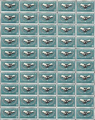 1965- INTERNATIONAL COOPERATION YEAR - #1266 Mint Sheet of 50 Postage Stamps