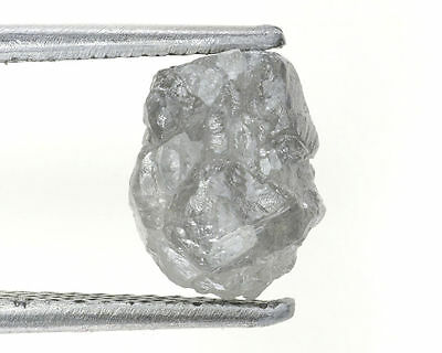 Out Standing 2.66 Ct Natural Loose Diamond Rough SilverGray Natural Shape