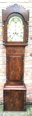 Beautiful Mahogany Moon Roller 8 day Grandfather Clock  by  Jno JAMES SWANSEA