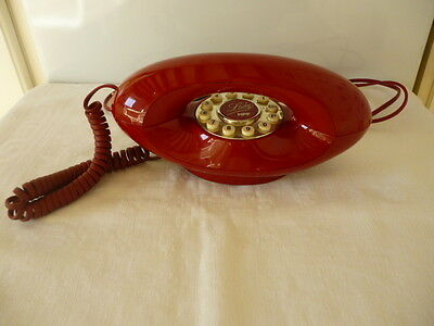 Telephone Lady Hpf Rouge Annees 80