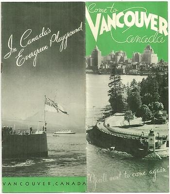 1930 Travel Guide VANCOUVER CANADA Down Town Area Map