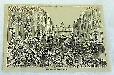 1878 magazine engraving ~ THE BERNERS STREET HOAX, Theodore Hook, England