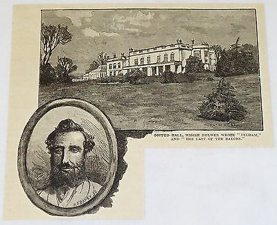 1887 engraving ~ COPPED HALL, Totteridge, England