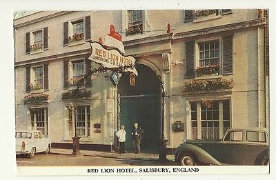 Salisbury - a larger format, photographic postcard of the Red Lion Hotel