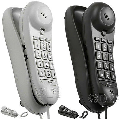 New Slimline Telephone Phone Landline With Memory Led Call Indicator Call Office