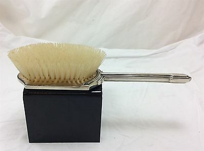 Silver Hallmarked Dressing Table Brush with Guilloche Enamelling & Fleur de Lys