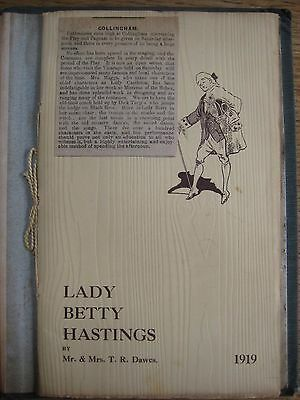 Collingham Pageant,1919,scrapbook,lady Betty Hastings,ledston Hall,leeds,wetherb