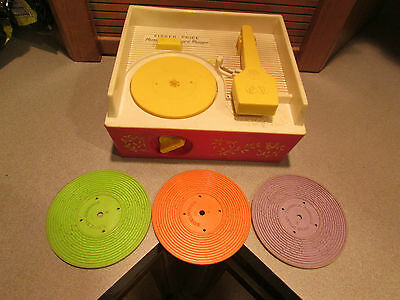 Fisher Price Music Box Record Player Swiss Movement Made in USA