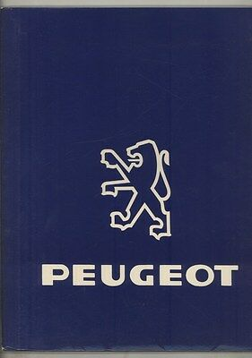 1986 Peugeot 505 Turbo US Press Kit Brochure ww4652