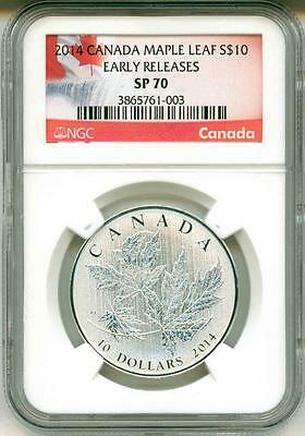2014 S$10 Canada Maple Leaf Early Release NGC SP70
