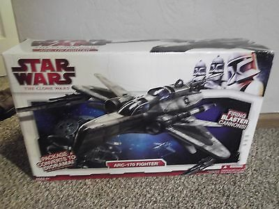 2009 Star Wars The Clone Wars Arc-170 Fighter Loose In Box Nice. Flash Sale!!