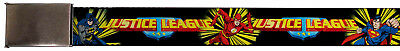 Justice League DC Comics Superheroes Flash & Batman Web Belt Chrome