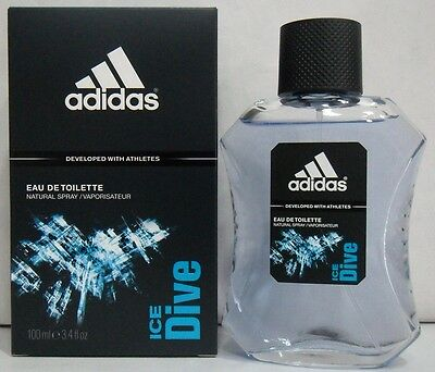 Uomo-Profumo ADIDAS ICE DIVE Eau De Toilette 100 ML Spray OFFERTA