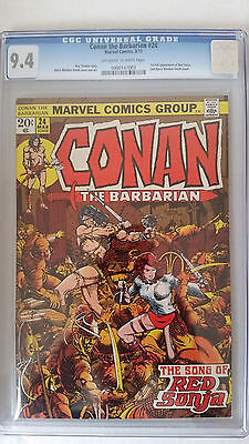 Conan the Barbarian #24 CGC 9.4  1st Full Appearance of Red Sonja