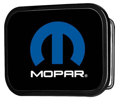 Mopar Automotive Part Company Classic Blue M Logo Rockstar Belt Buckle