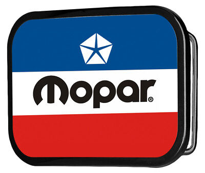 Mopar Automotive Part Company Retro Striped Logo Rockstar Belt Buckle