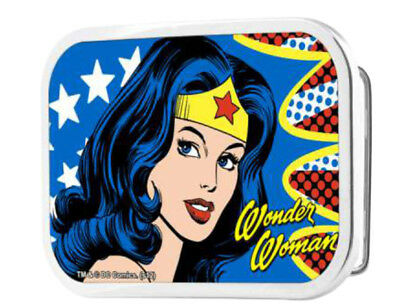 Wonder Woman DC Comics Superhero Close-Up Face Rockstar Belt Buckle