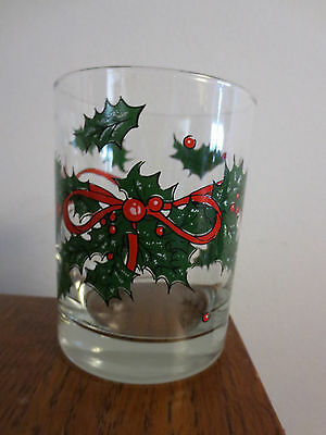 1990 Ahc Anchor Hocking Holly  Manhattan Tumbler Glass
