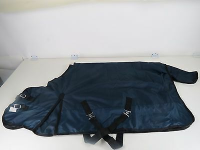 PONY- 1200-D Turnout Waterproof RIP STOP Horse WINTER BLANKET HEAVY NAVY 56""