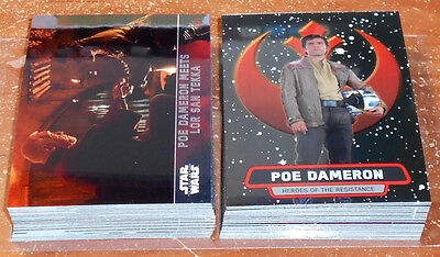 Star Wars Force Awakens Chrome ~ PARALLEL & INSERT CARD LOT (47 cards total)