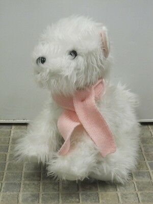 """Large 15-18"""" White Scottie Dog With Pink Scarf Bhs Top Quality Soft Toy Teddy"""